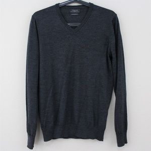 Zara 100% Extrafine Wool Lightweight Sweater F442